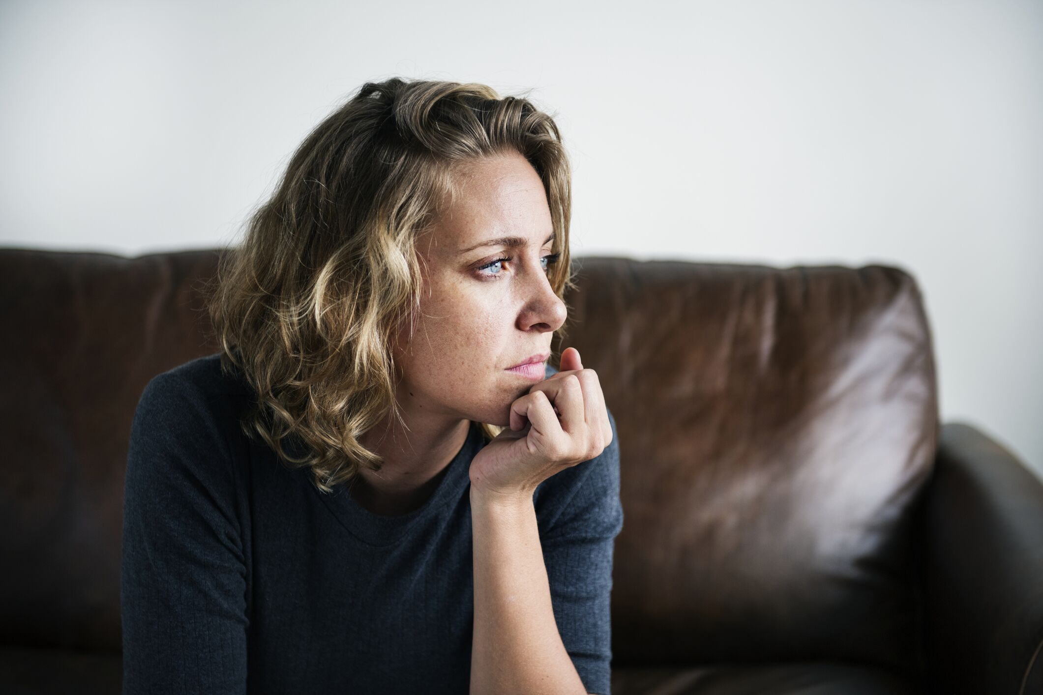 Portrait of a thoughtful woman